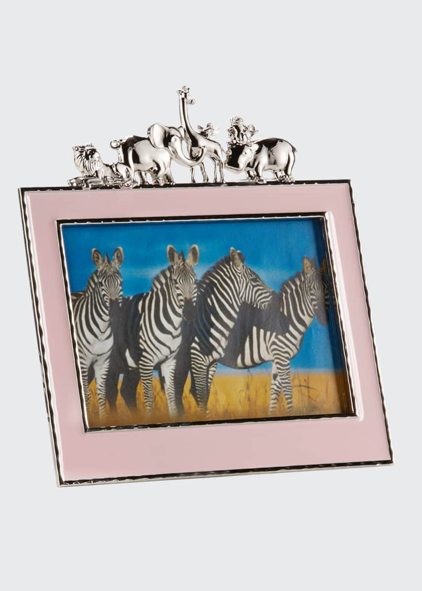 "Michael Aram Girls' Animals 5"" x 7"" Picture Frame, Pink"