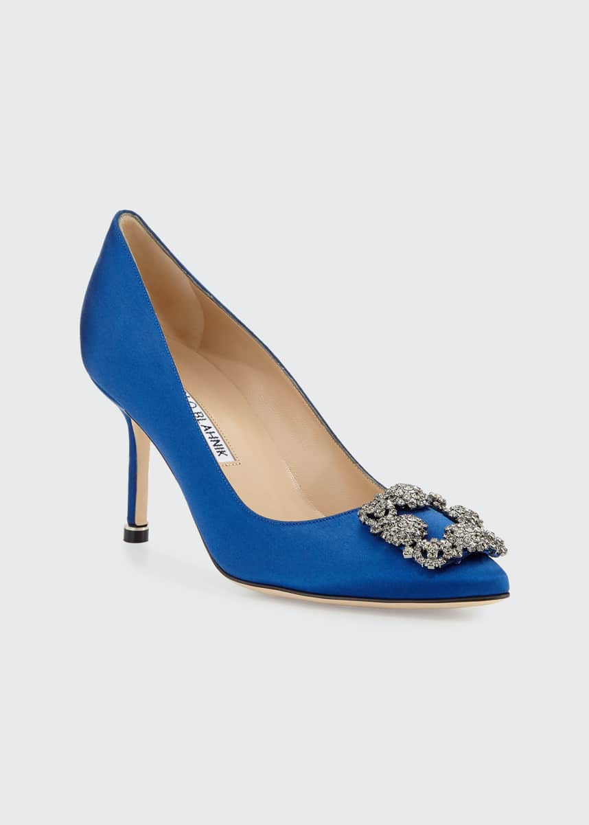 Manolo Blahnik Hangisi Satin 70mm Pump