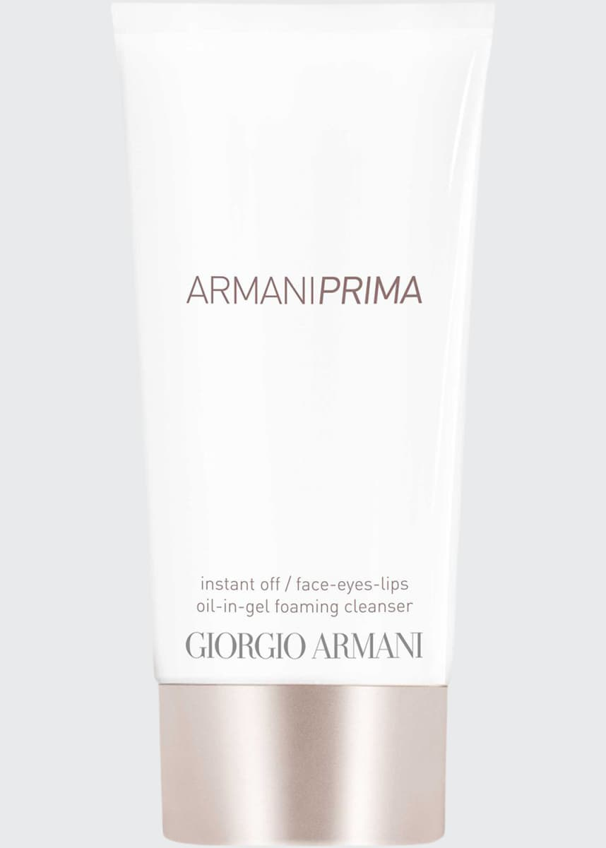 Giorgio Armani Armani Prima Oil-in-Gel Instant Off Face & Eyes & Lips Foaming Cleanser