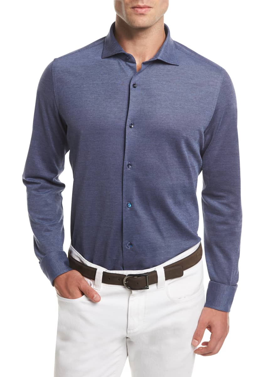 Loro Piana Men's Woven Cotton Oxford Sport Shirt