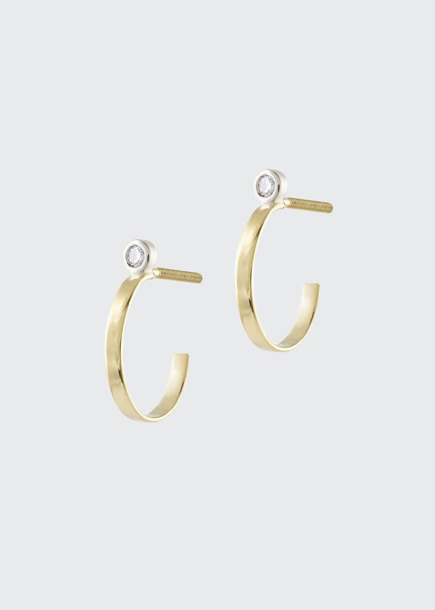 LANA GIRL BY LANA JEWELRY Girls' Diamond Huggie Hoop Earrings