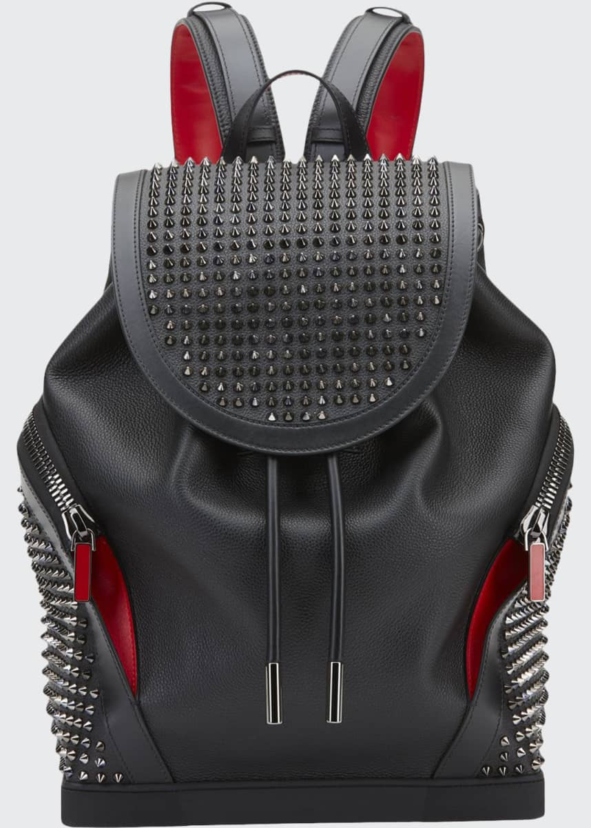 Christian Louboutin Men's Basic Studded Leather Backpack
