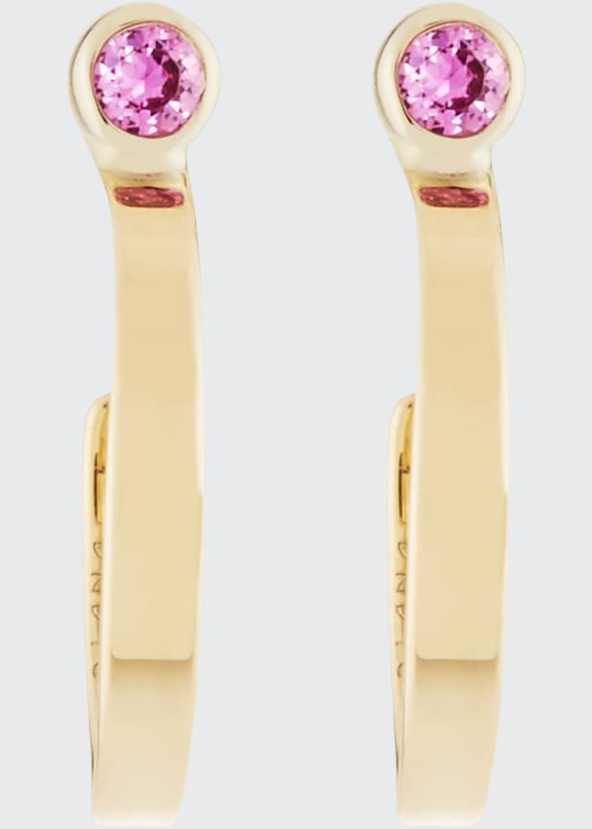 LANA GIRL BY LANA JEWELRY Girls' Pink Sapphire Hoop Earrings