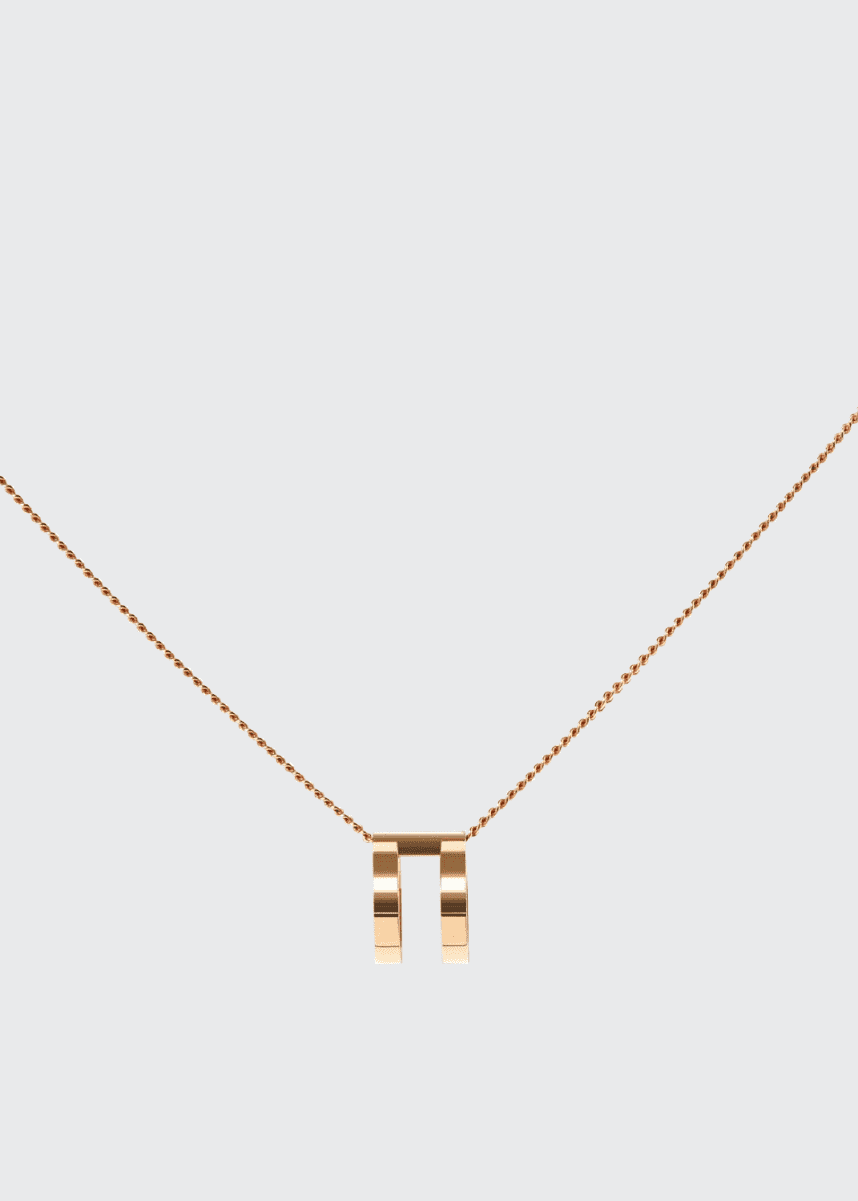 Repossi Two-Row Pendant Necklace in 18K Rose Gold