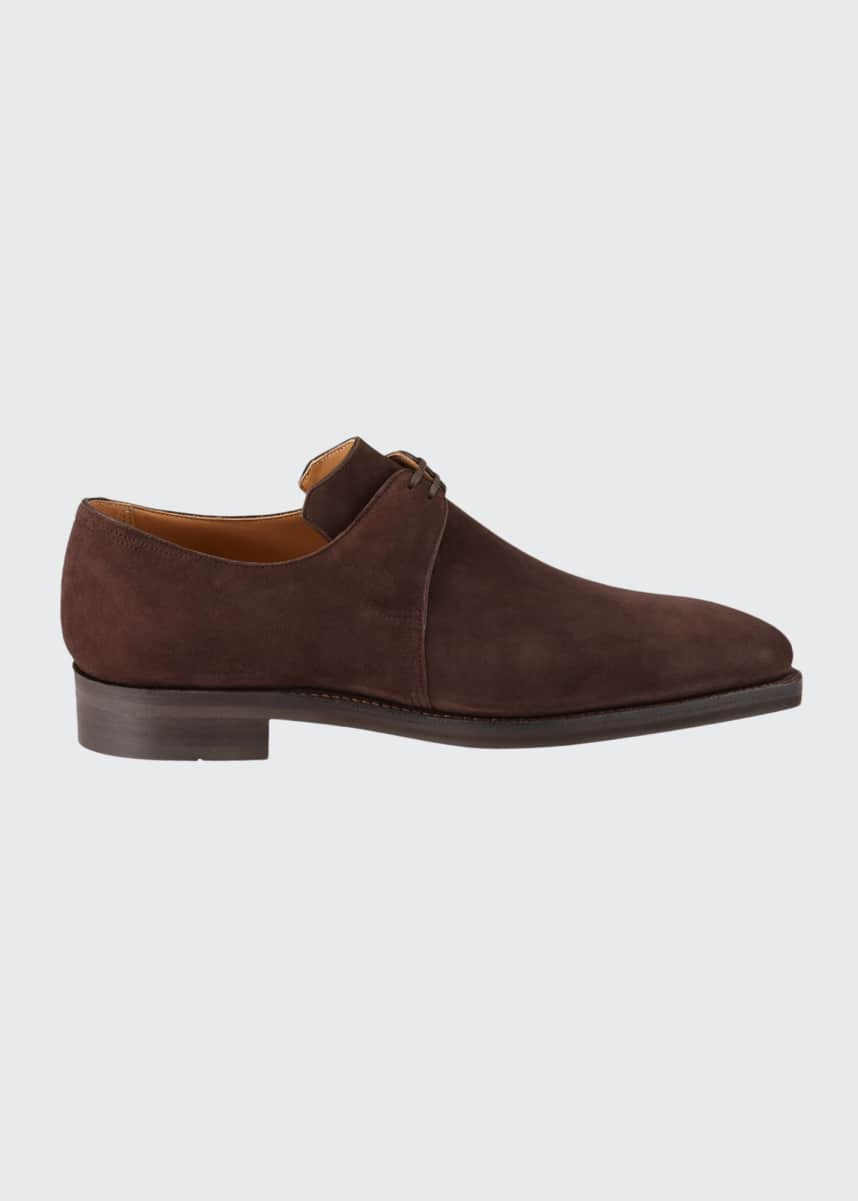 Corthay Men's Arca Suede Derby Shoes