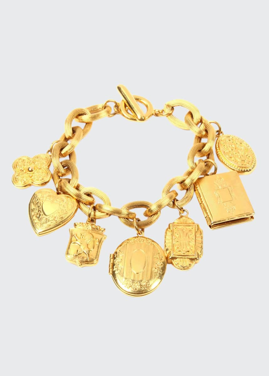 Ben-Amun Royal Locket Charm Bracelet