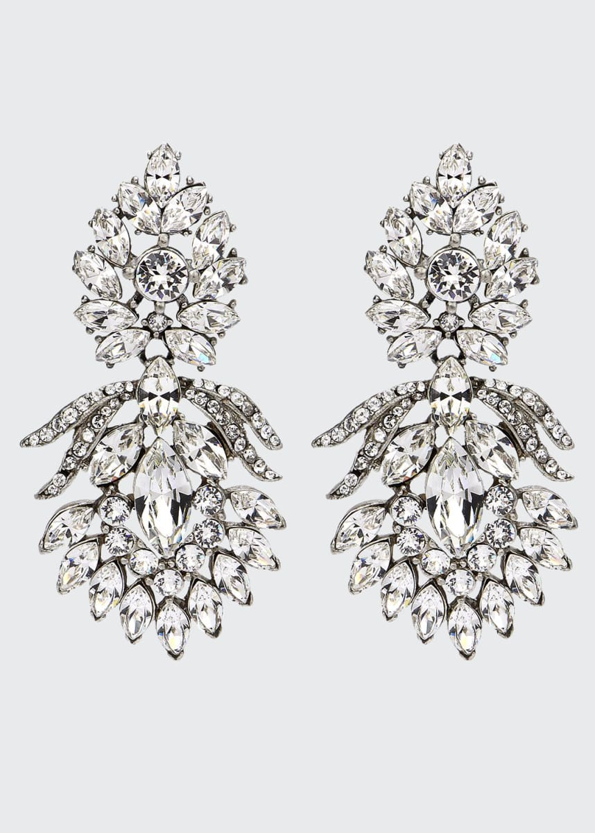 Ben-Amun Crystal Peacock Clip-On Earrings