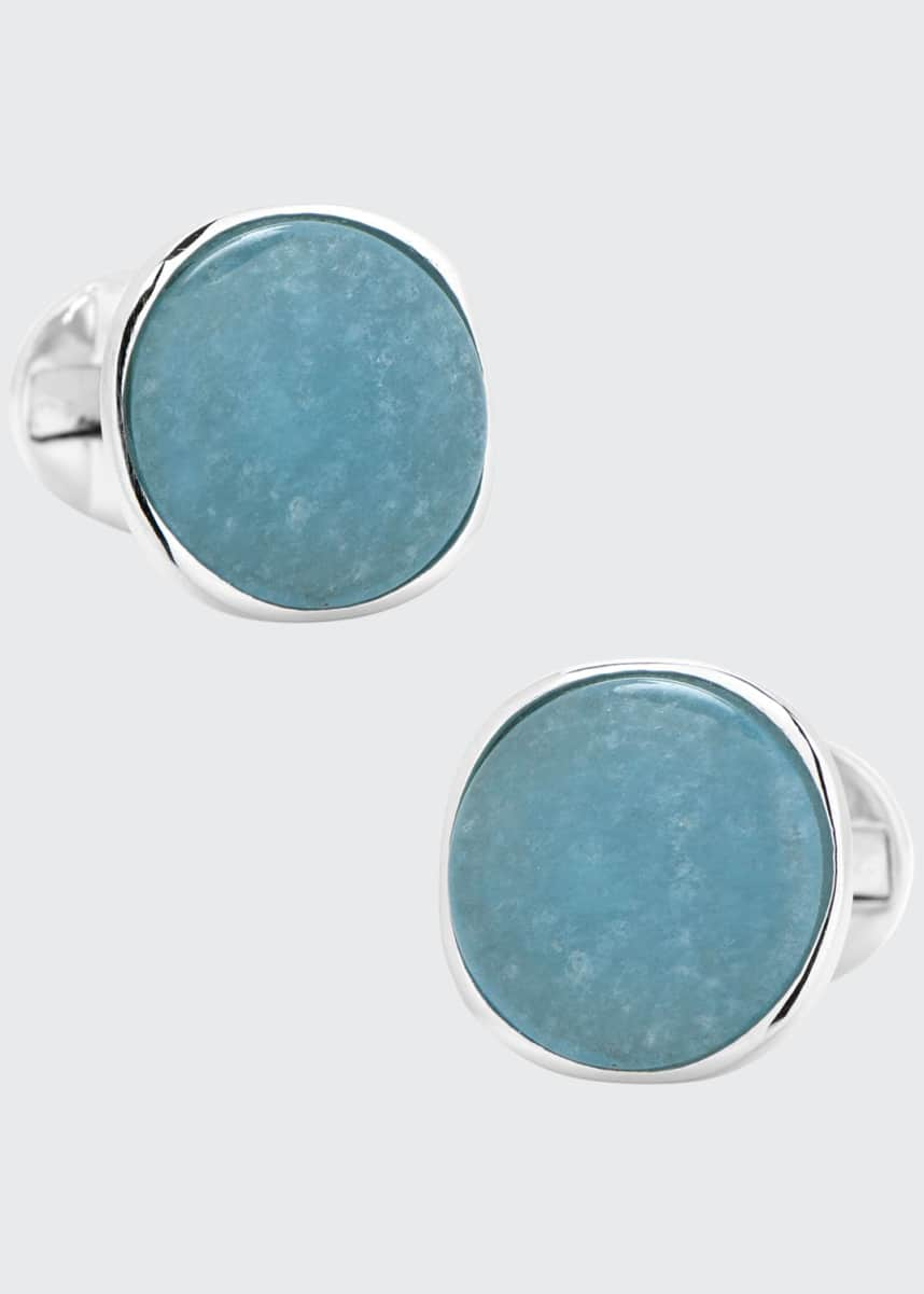 Cufflinks Inc. Aquamarine Jade & Sterling Silver Cufflinks