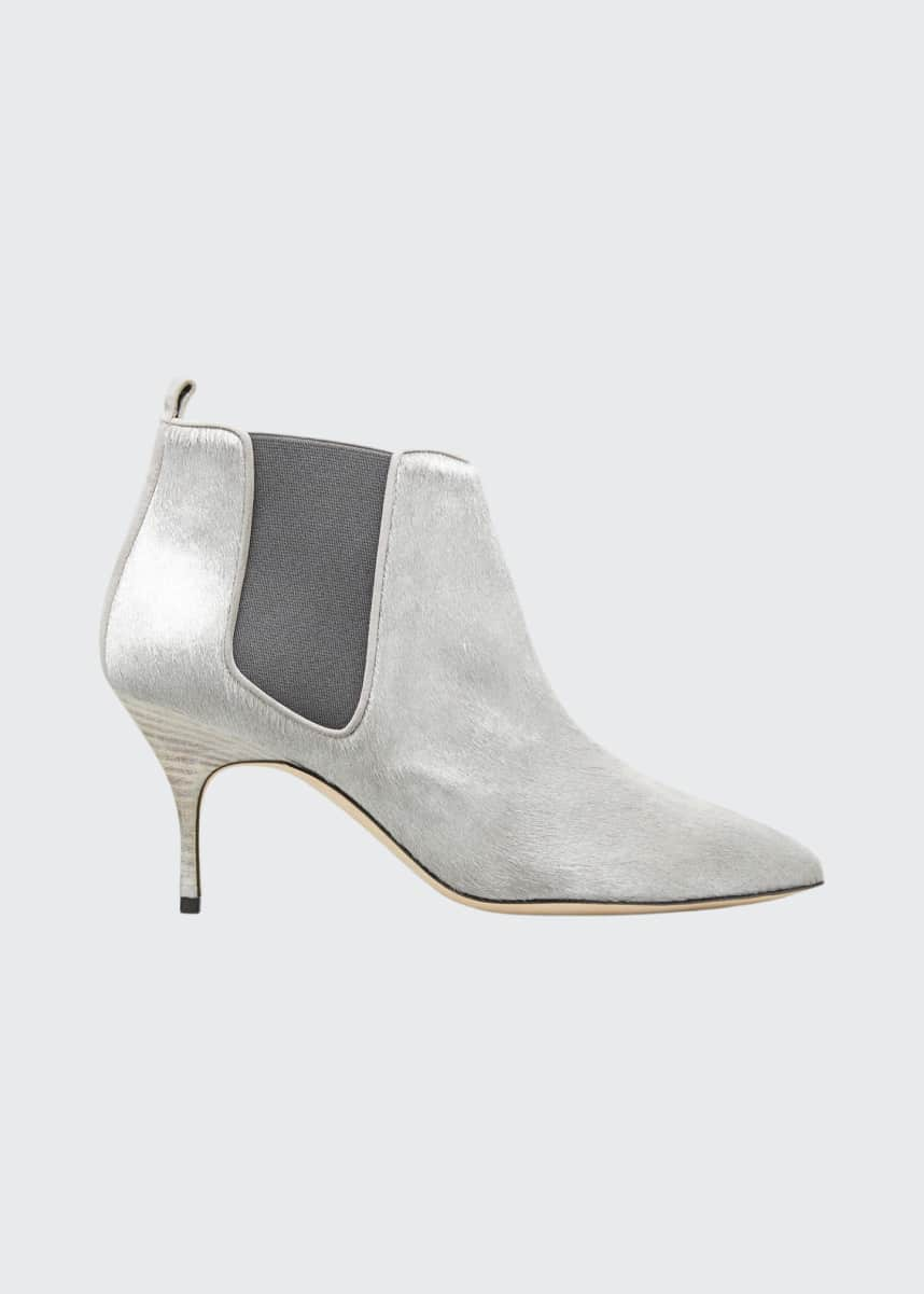 New Womens SOLE Metallic Silver Jayde Leather Boots Ankle Zip
