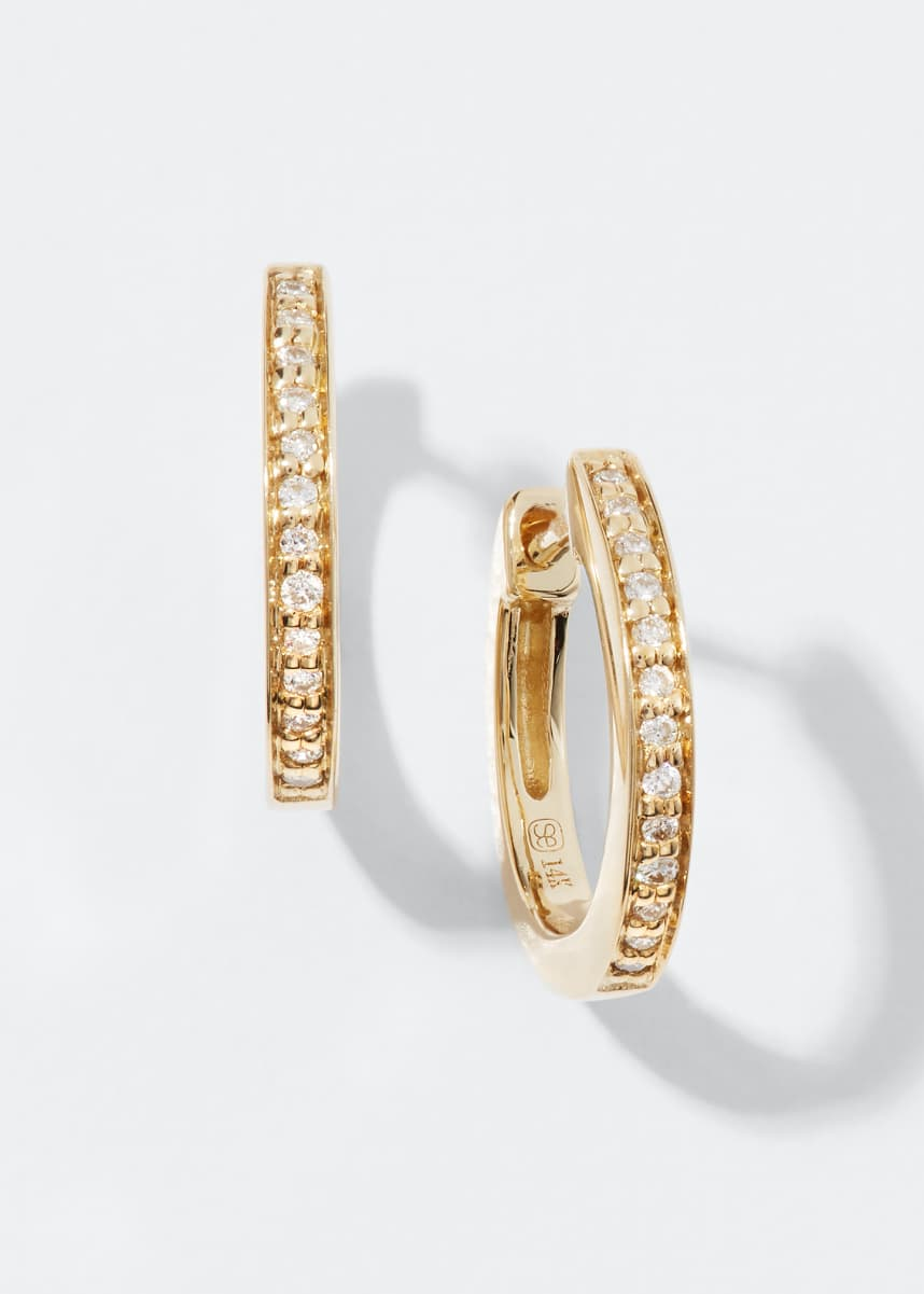 Sydney Evan 14k Diamond Small Huggie Hoop Earrings