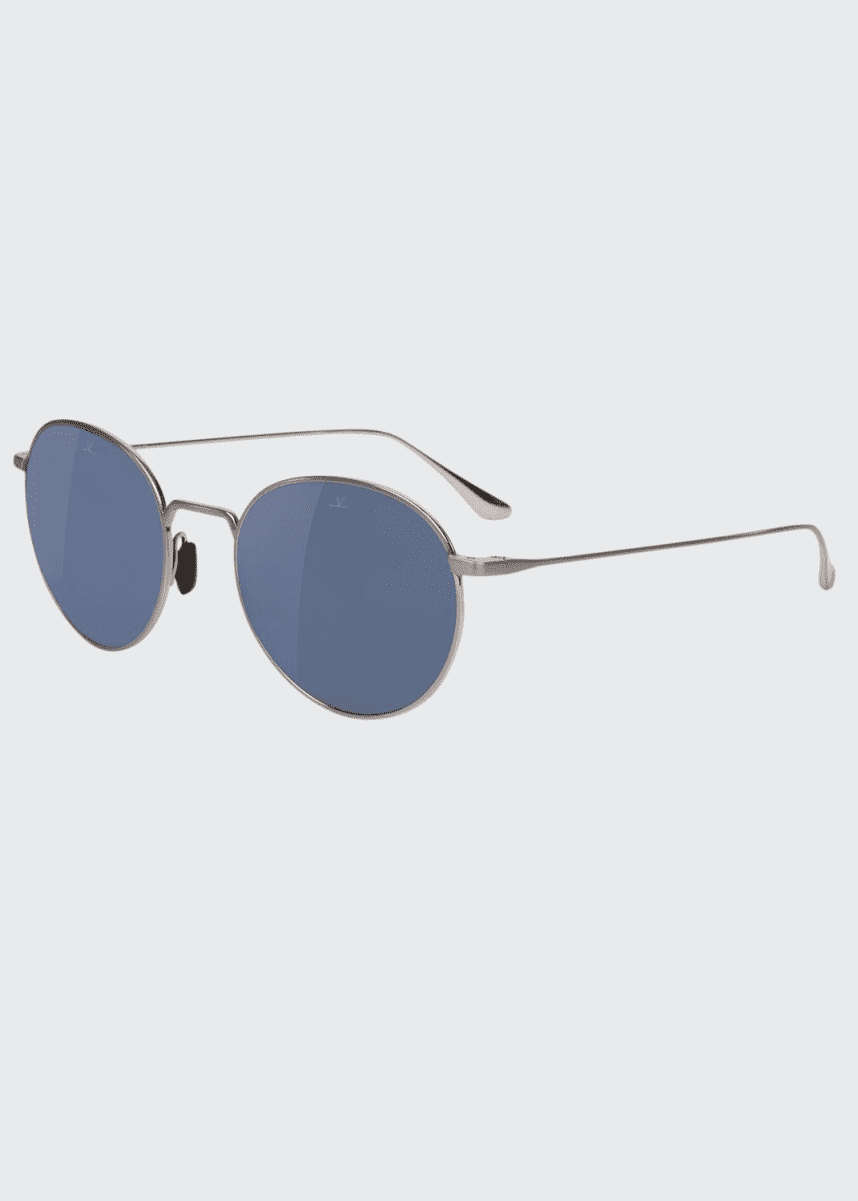 Vuarnet Swing Small Round Titanium Sunglasses