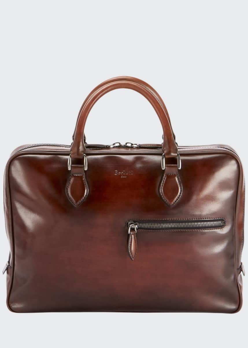 Berluti Men's Venezia Mogano Leather Briefcase