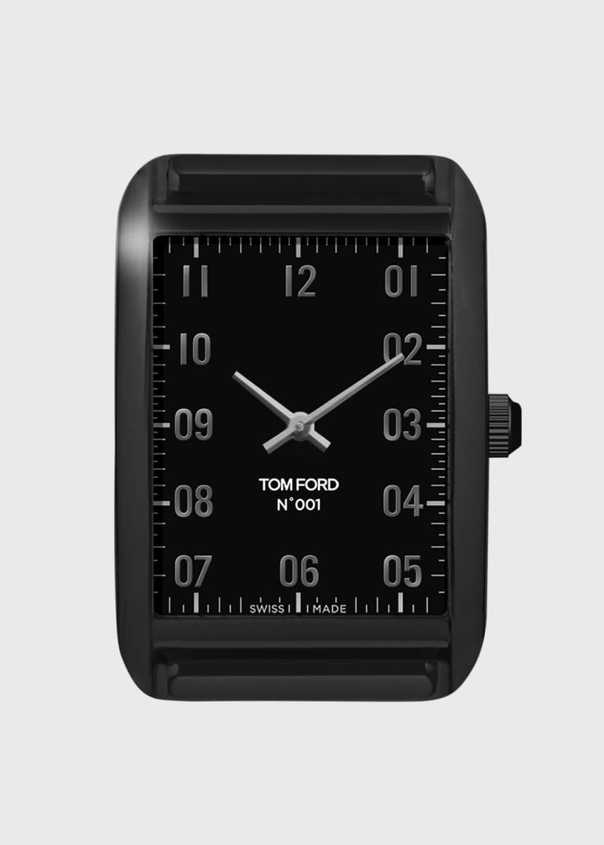 TOM FORD TIMEPIECES Matte Stainless Steel with Black DLC Case, Matte Black Velvet Dial, Large