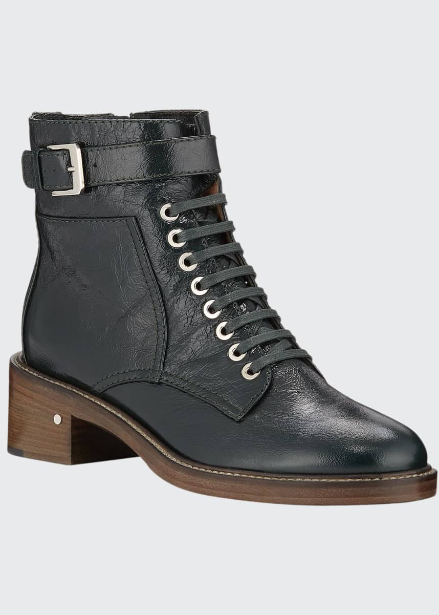 Laurence Dacade Solene Leather Combat Boots