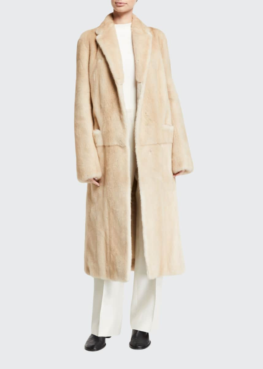 THE ROW Muto Mink Fur Trench Coat