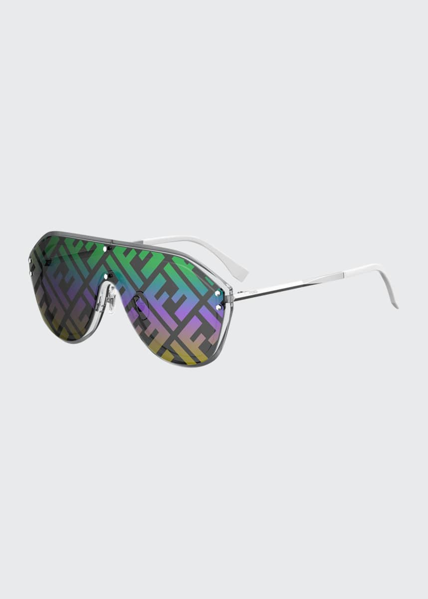 Fendi Men's FF Shield Sunglasses