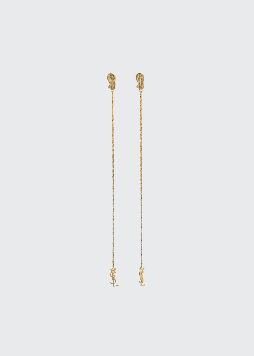 Saint Laurent Opyum Monogram Drop Earrings