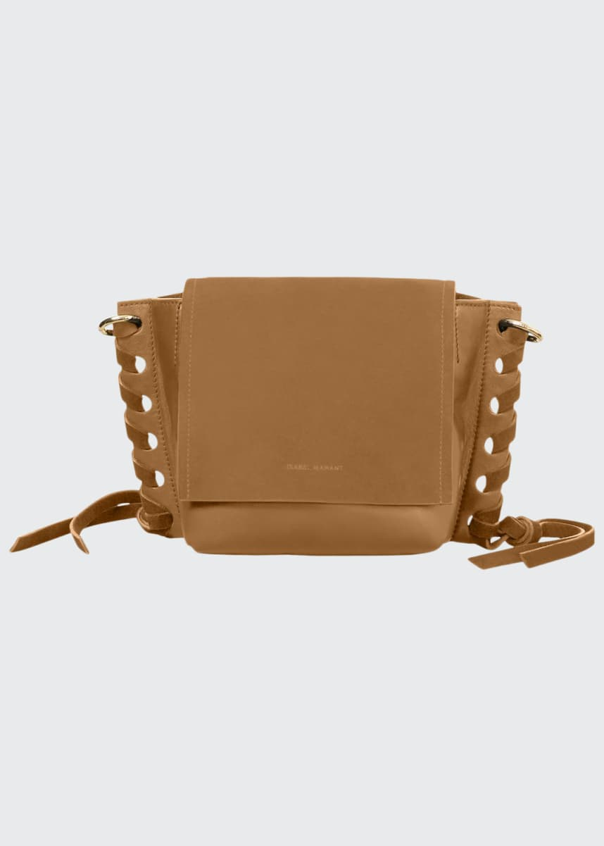 Isabel Marant Kleny Suede and Leather Crossbody Bag