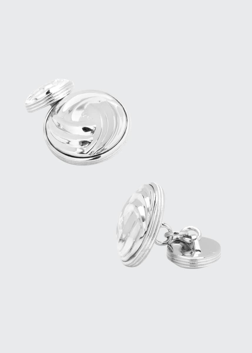 Cufflinks Inc. Modern Knot Sterling Silver Cuff Links