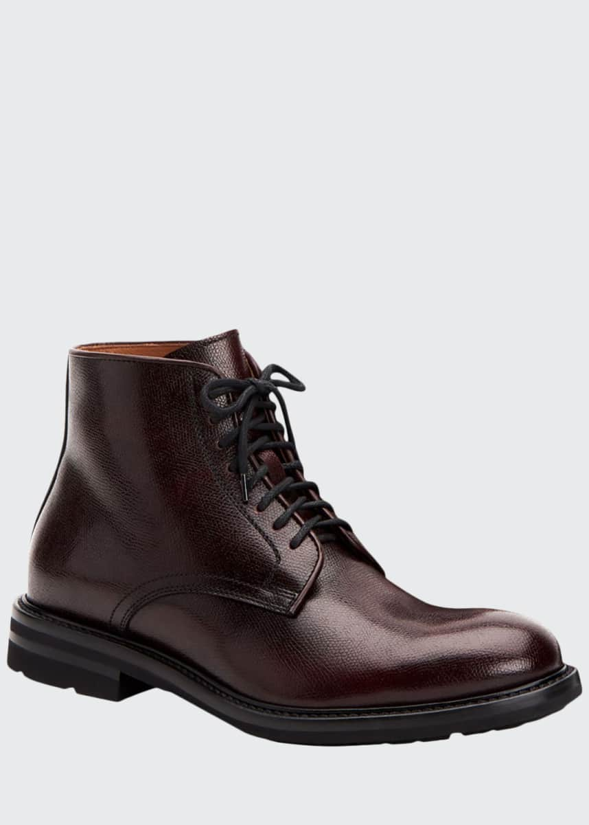 Aquatalia Men's Renzo Waterproof Leather Lace-Up Boots