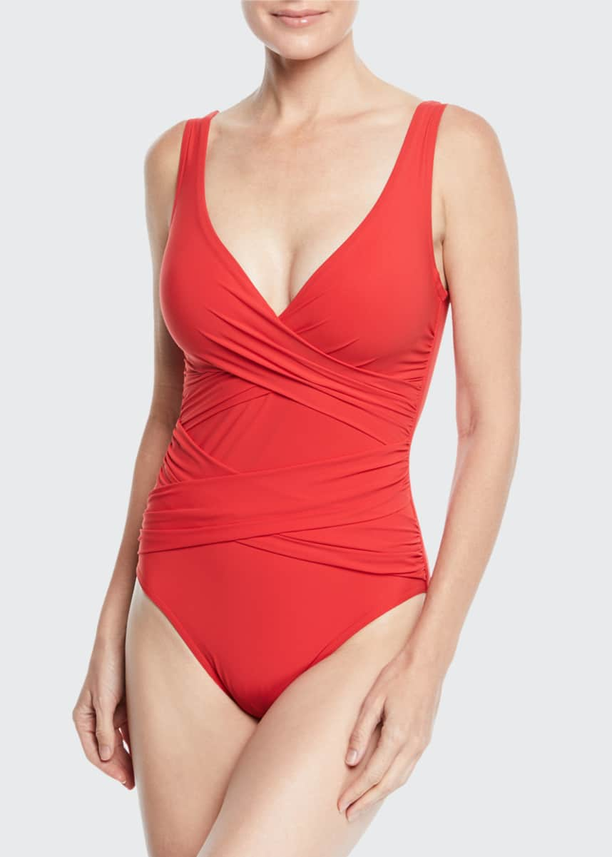 Karla Colletto Crisscross One-Piece Swimsuit