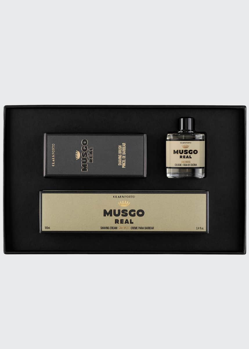 Musgo Real Oak Moss Mini Cologne, Shaving Cream and Brush Set
