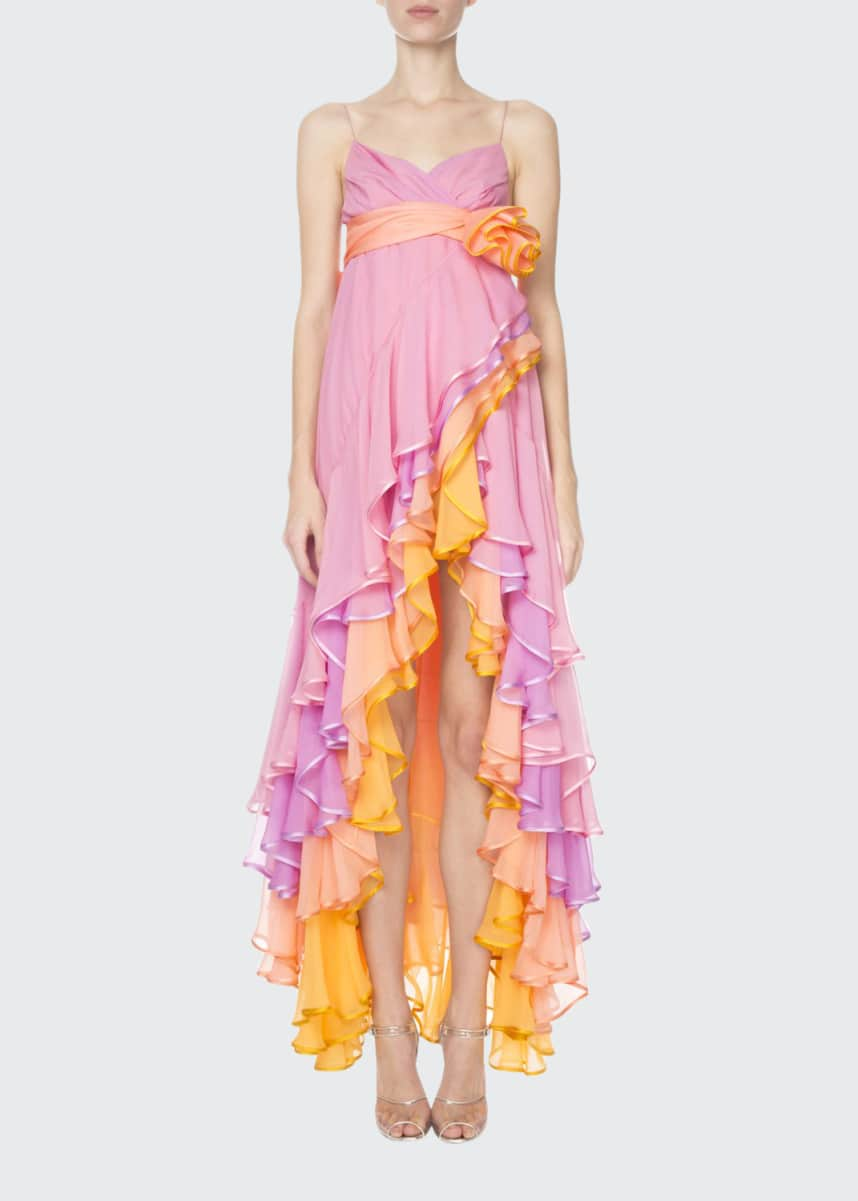 Marc Jacobs (Runway) Tiered Cascading Chiffon Cocktail Dress