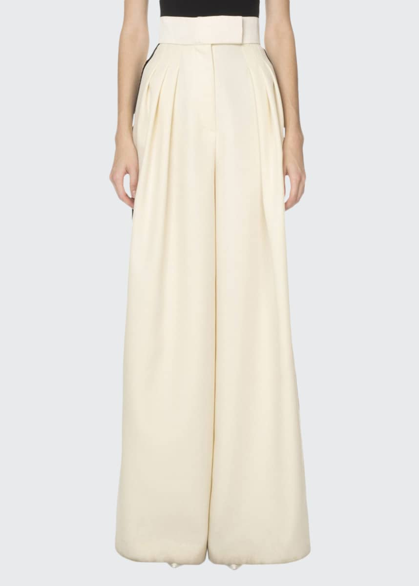 Marc Jacobs (Runway) Wide-Leg Scalloped-Side Trousers