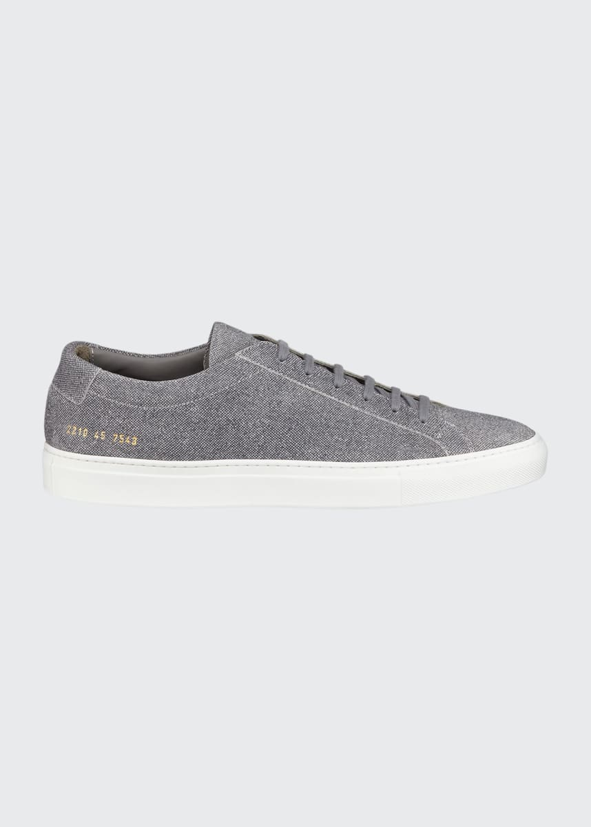 Common Projects Men's Achilles Patterned Suede Low-Top Sneakers