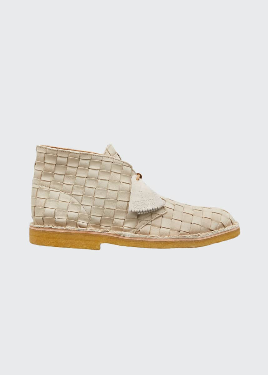B. x Clarks Originals Men's Woven Suede Desert Boot