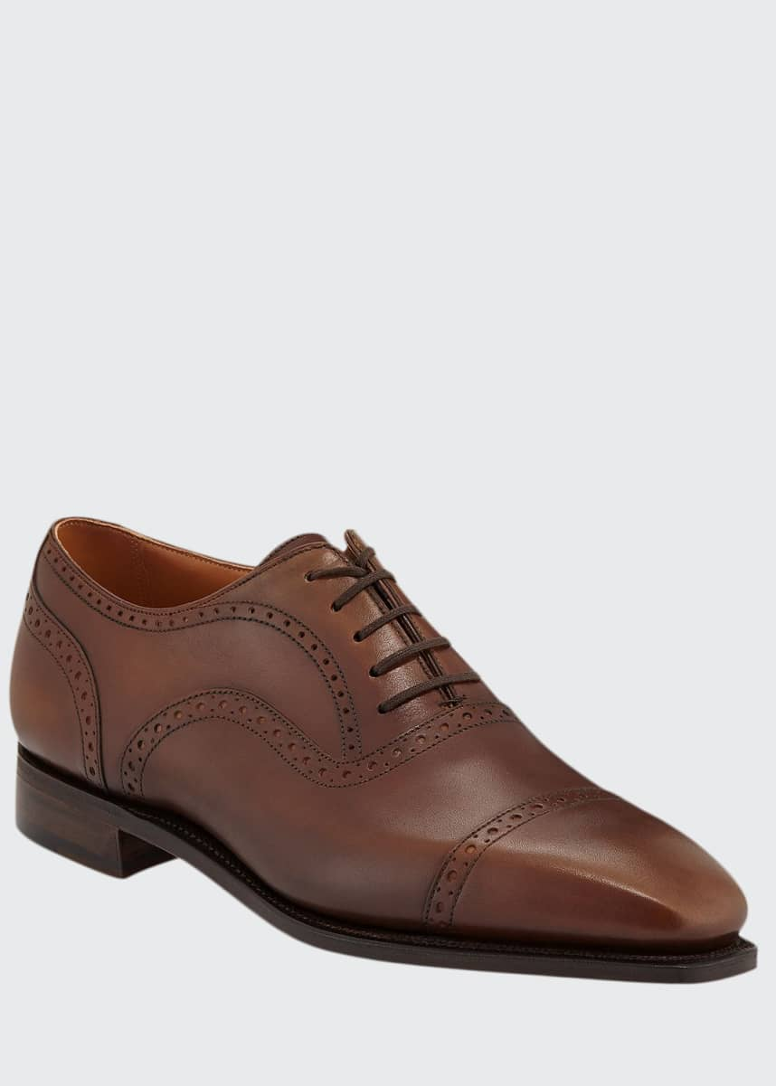 Corthay Men's Cap-Toe Dress Shoes with Brogue Details