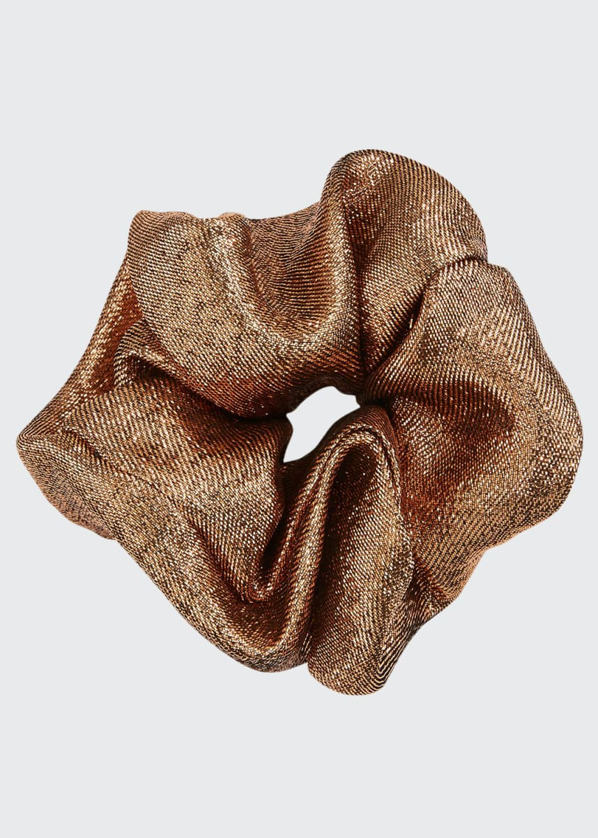 Jennifer Behr Metallic Scrunchie