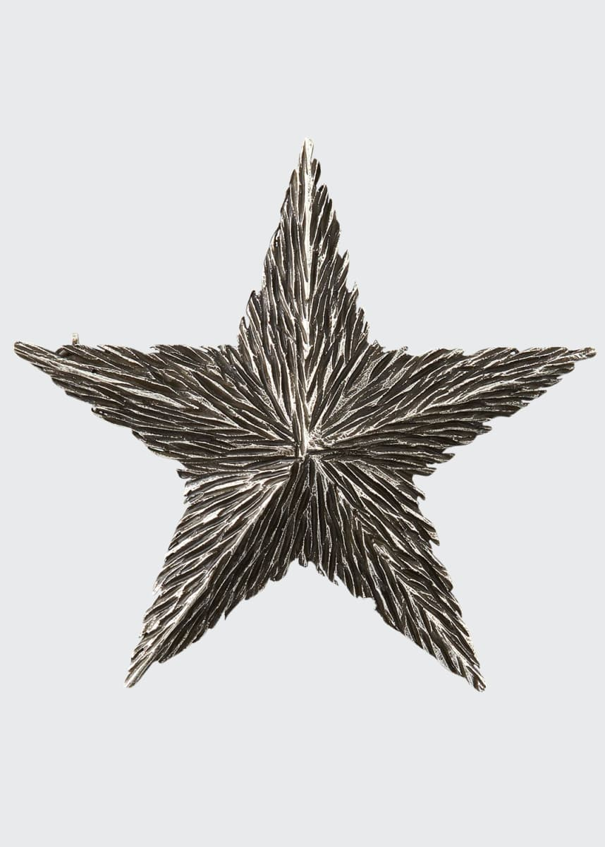 Saint Laurent Textured Star Pin