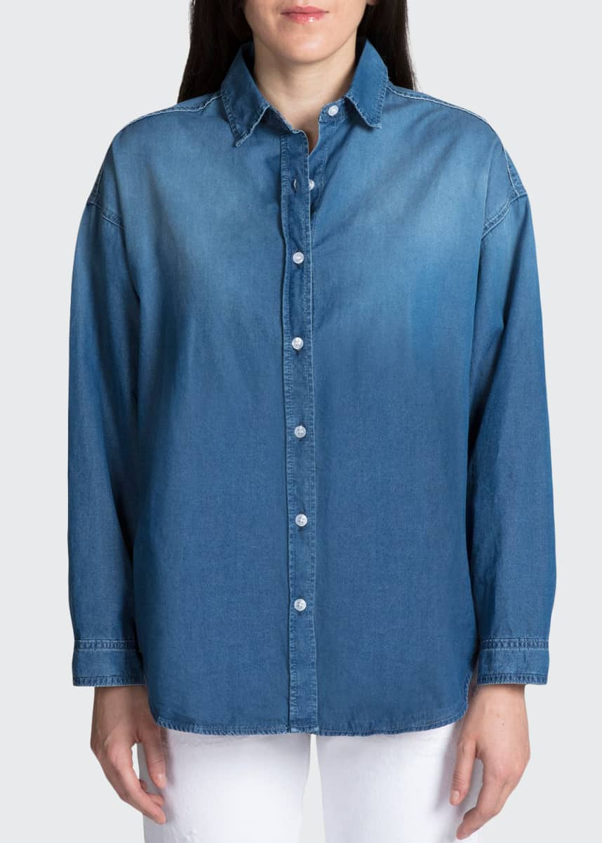 PRPS Washed Denim Button-Up Shirt