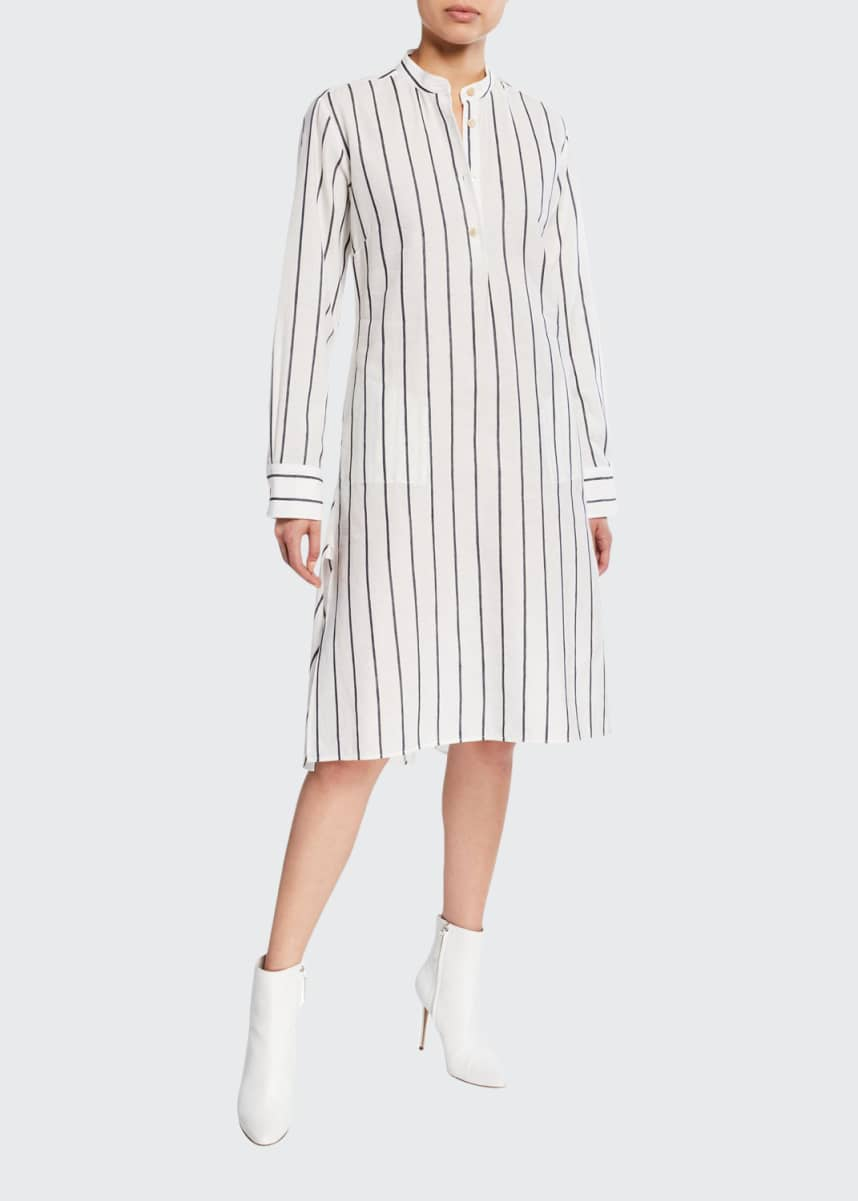 palmer//harding Alexandria Striped Long-Sleeve Shirtdress