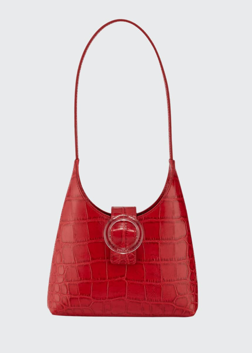 IMAGO-A Stamped Crocodile Shoulder Bag