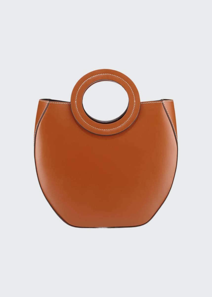 Staud Frida Ring-Handle PVC/Leather Tote Bag