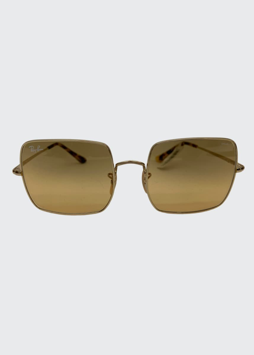 Ray-Ban Metal Square Sunglasses
