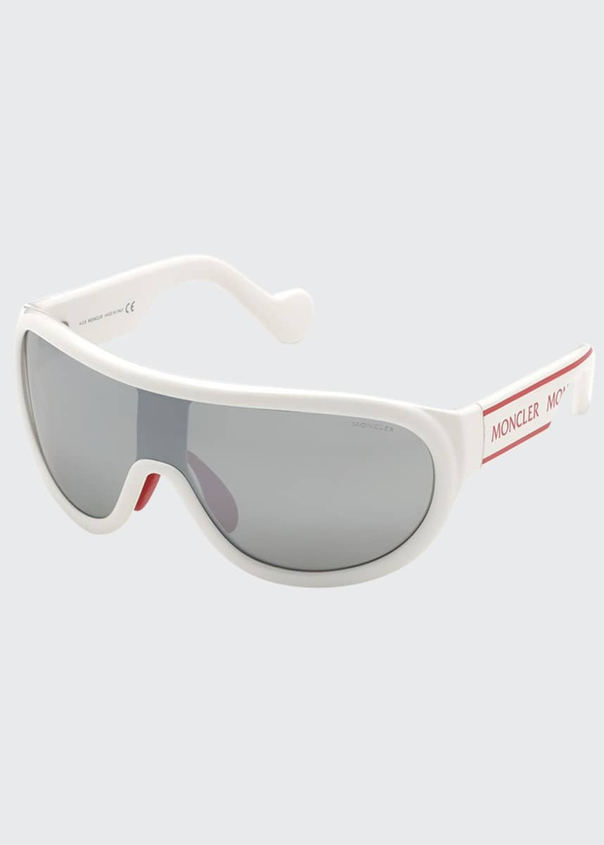 Moncler Shield Mirrored Acetate Sunglasses