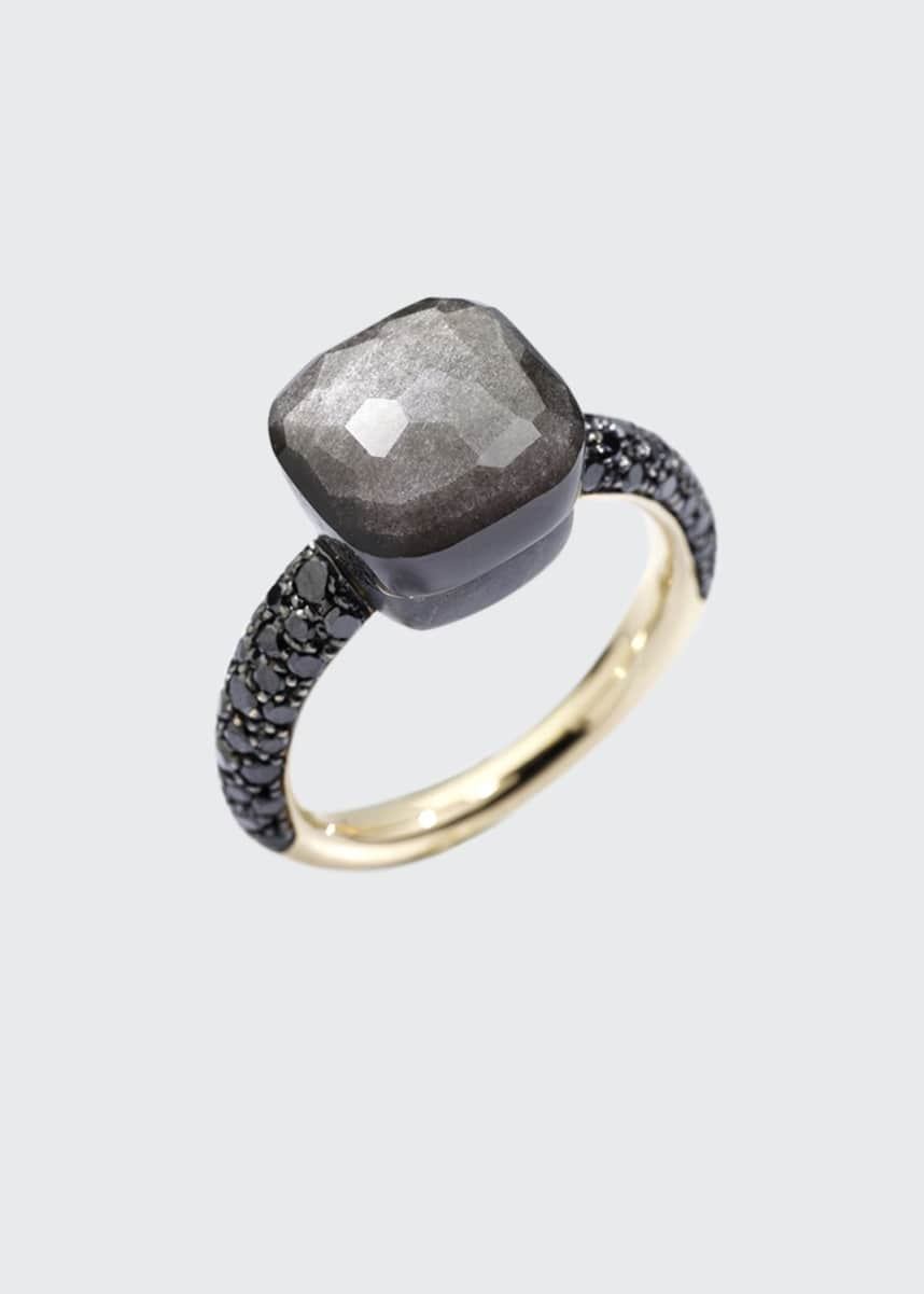 Pomellato NUDO 18k Rose Gold/Titanium Obsidian & Black Diamond Ring