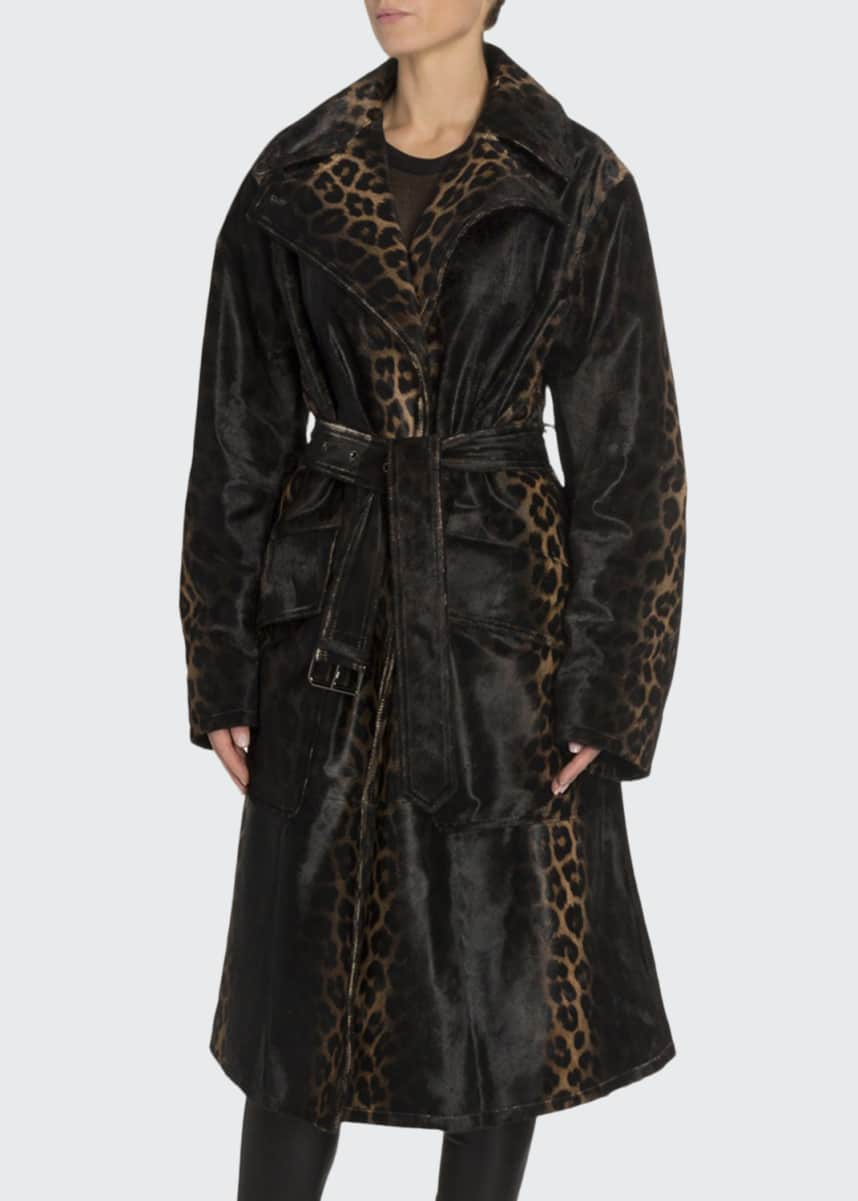 TOM FORD Handpainted Degrade Leopard Print Coat