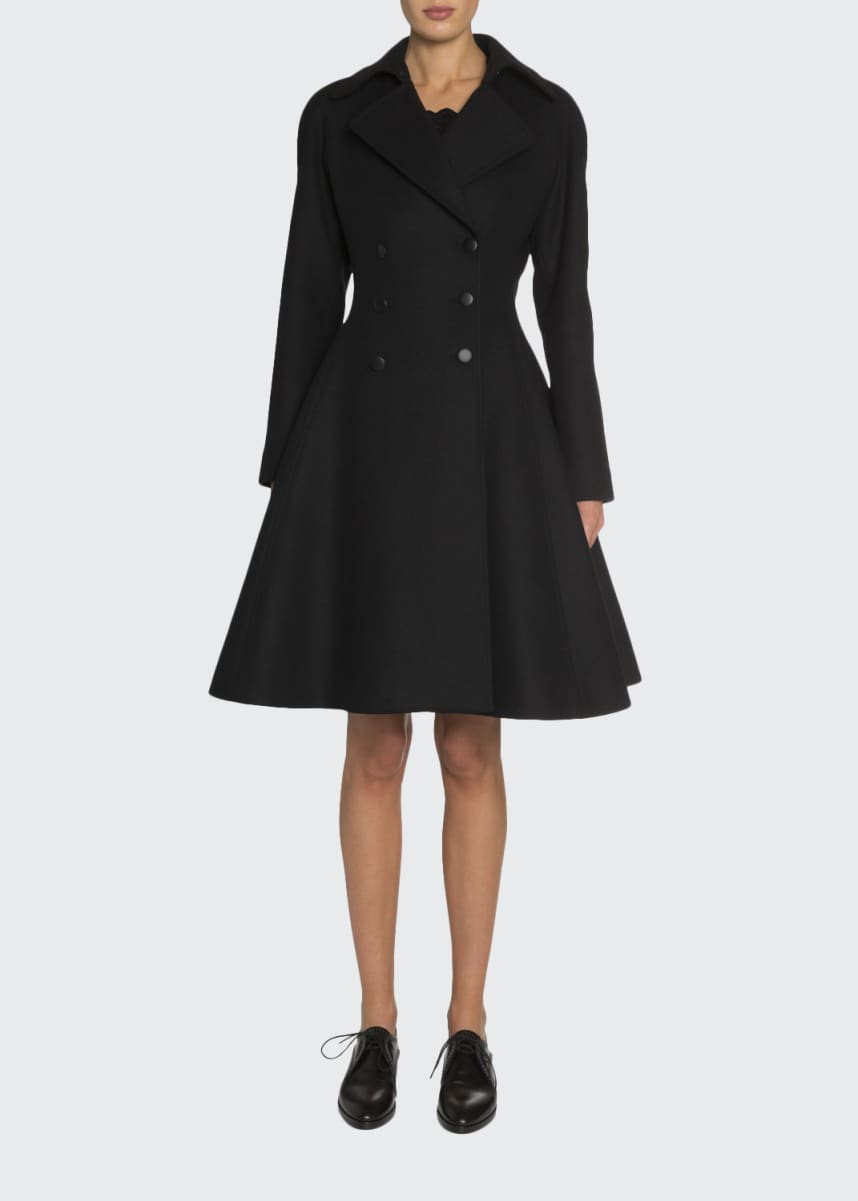 ALAIA Double-Breasted Wool Princess Coat
