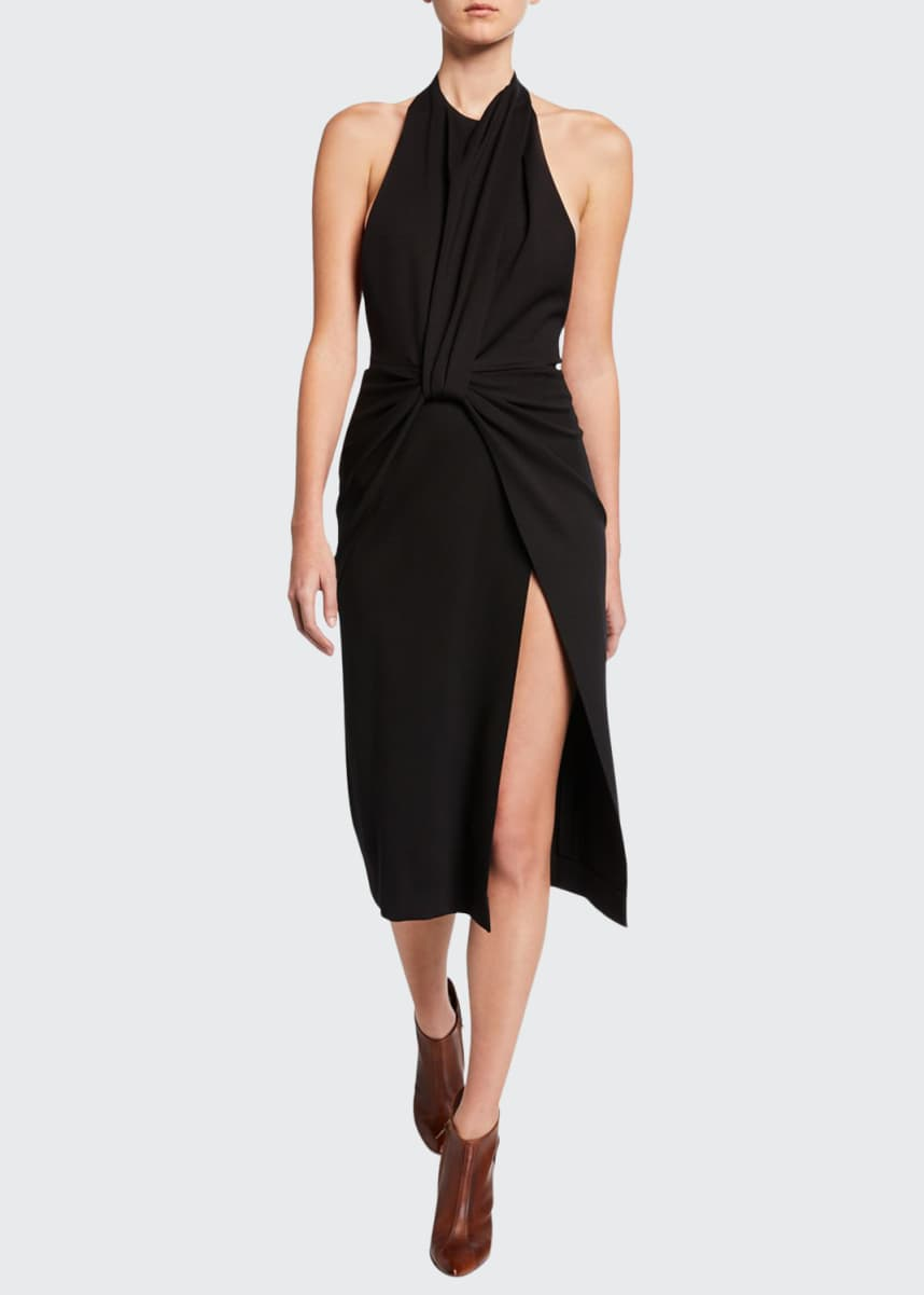 Tre by Natalie Ratabesi Twisted Halter-Neck Dress