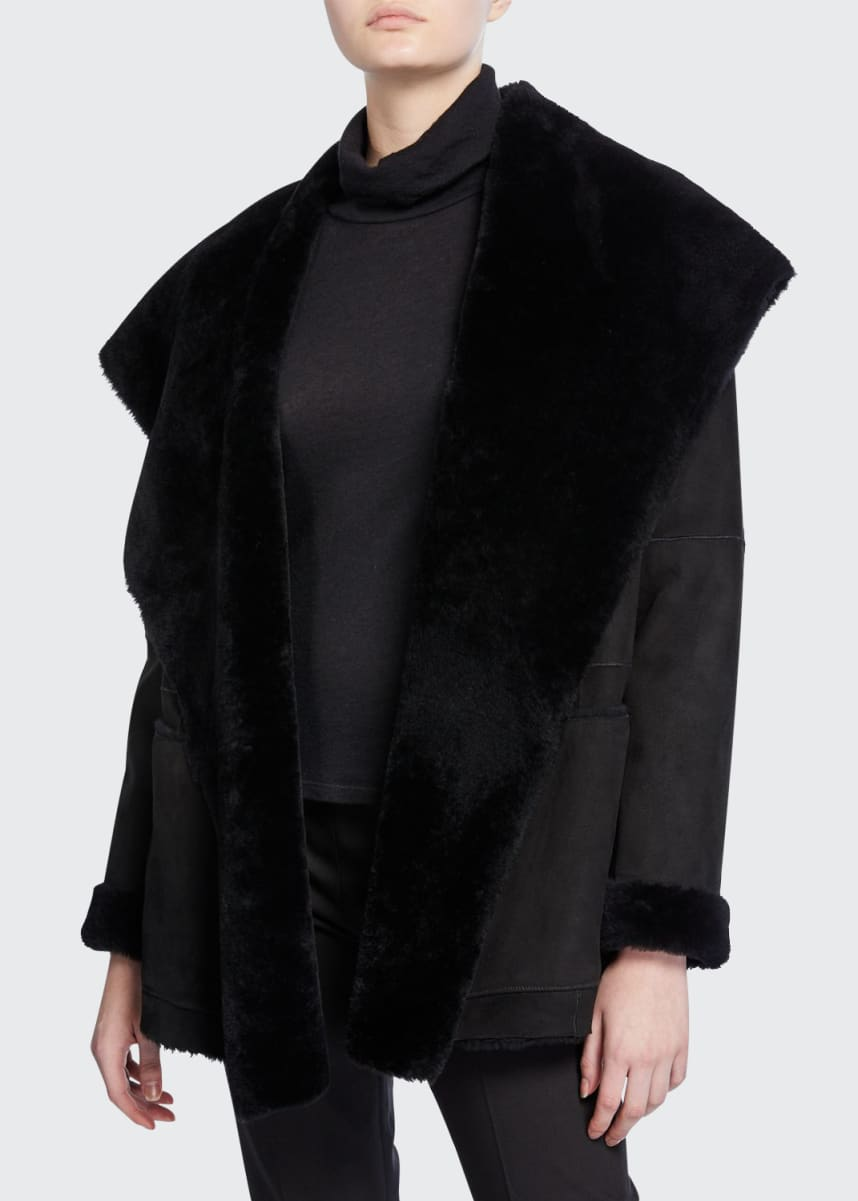 Vince Shearling Cardigan Coat