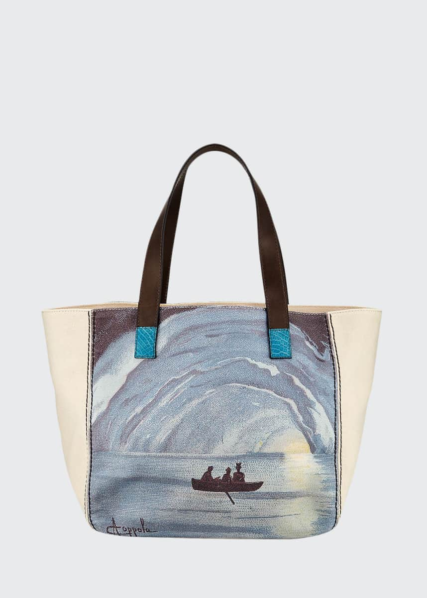 Laboratorio Capri Capri Printed Canvas Tote Bag