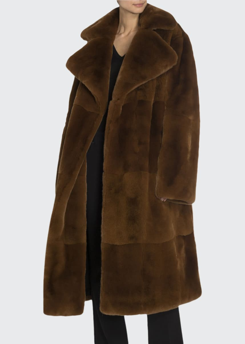 TOM FORD Shearling Double-Breasted Big Coat