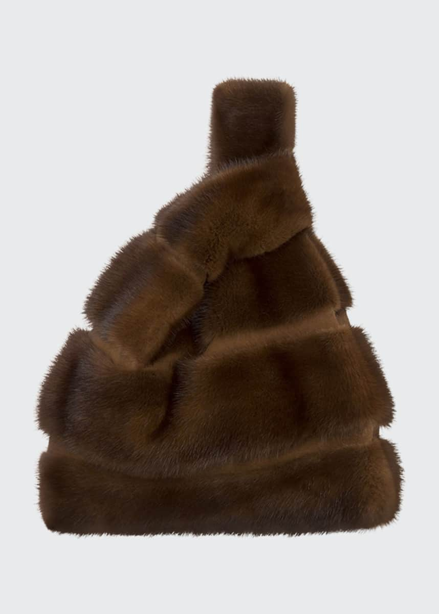 Simonetta Ravizza Furrissima FD Mink Fur Striped Tote Bag