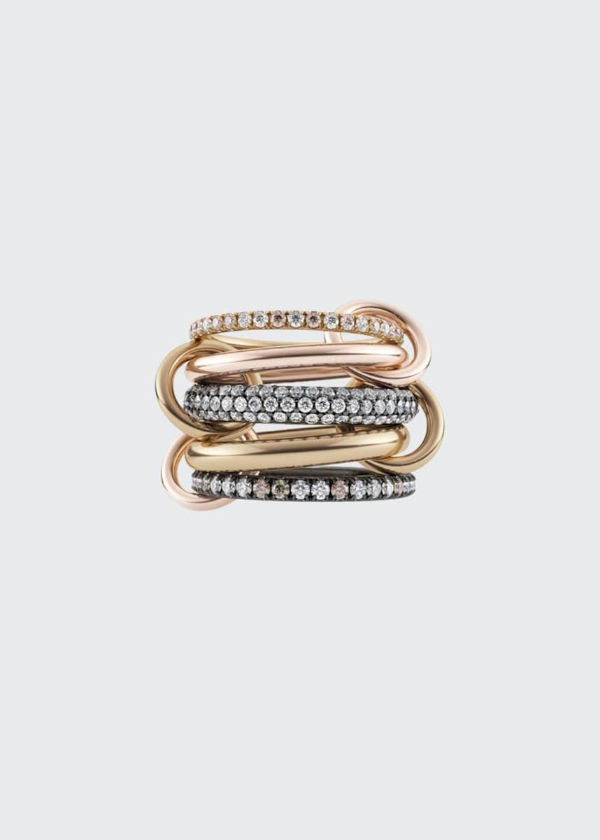 Spinelli Kilcollin Leo 18k 2-Tone 5-Link Ring w/ Diamonds