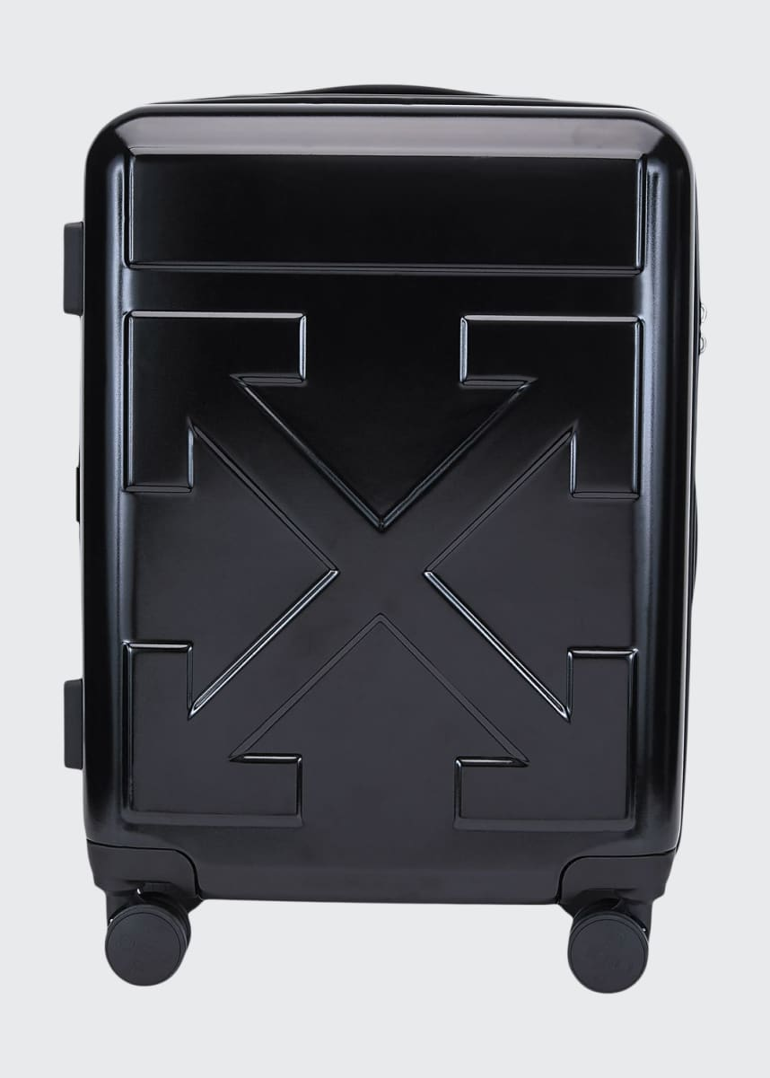 Off-White Arrow Hard Shell Spinner Trolly Luggage, Black