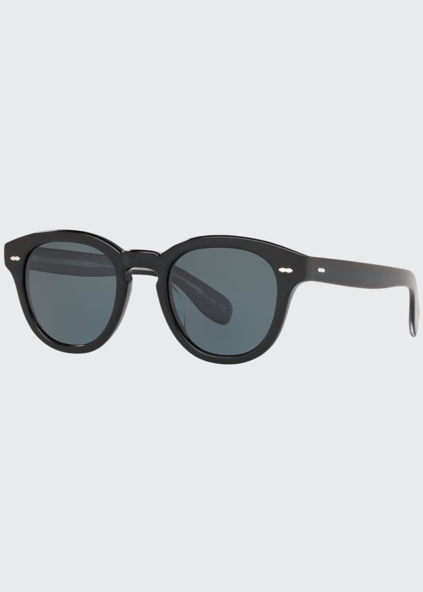 Oliver Peoples Men's Rounded Bold Acetate Sunglasses